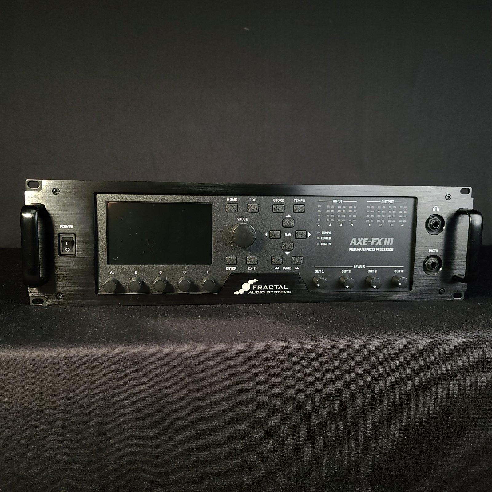 Used Fractal Audio Axe-FX III 3 Modeling Amp Modeler Preamp Processor