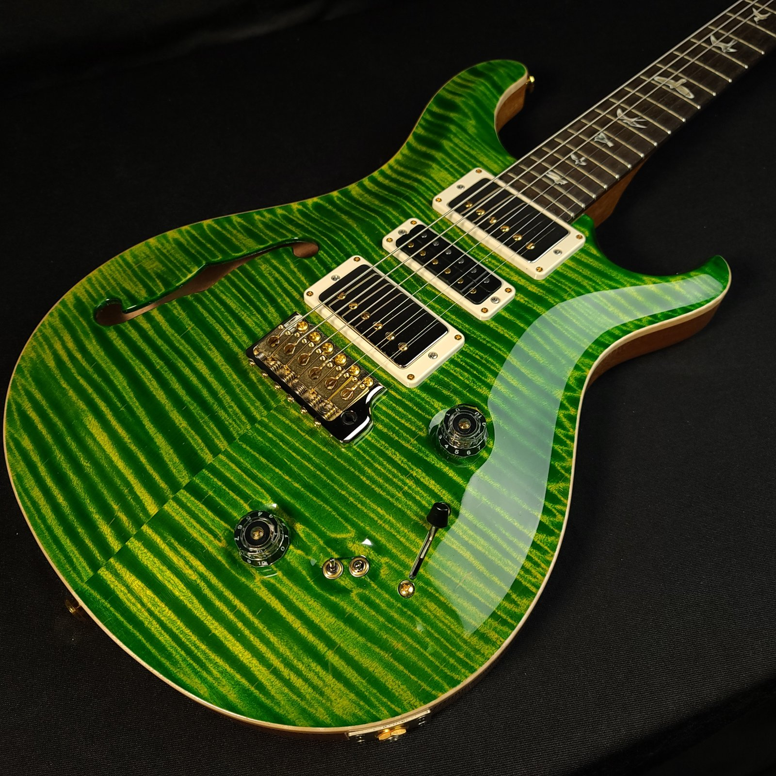USED Paul Reed Smith PRS Special 22 Semi-Hollow LE Emerald 10 Top w/ Original Case