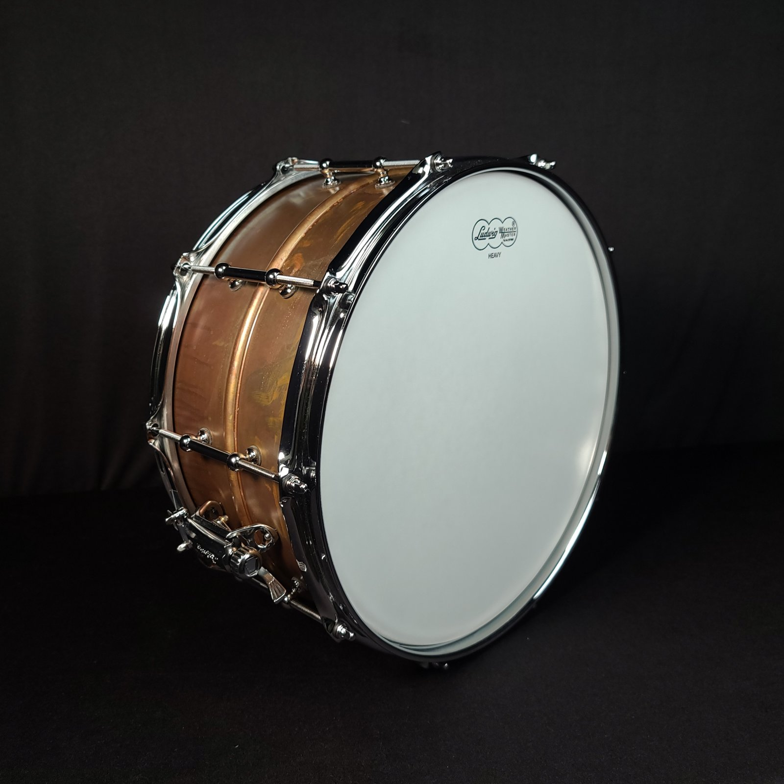 Ludwig LC663T 6.5 X 14 Raw Copperphonic Snare drum Tube Lugs