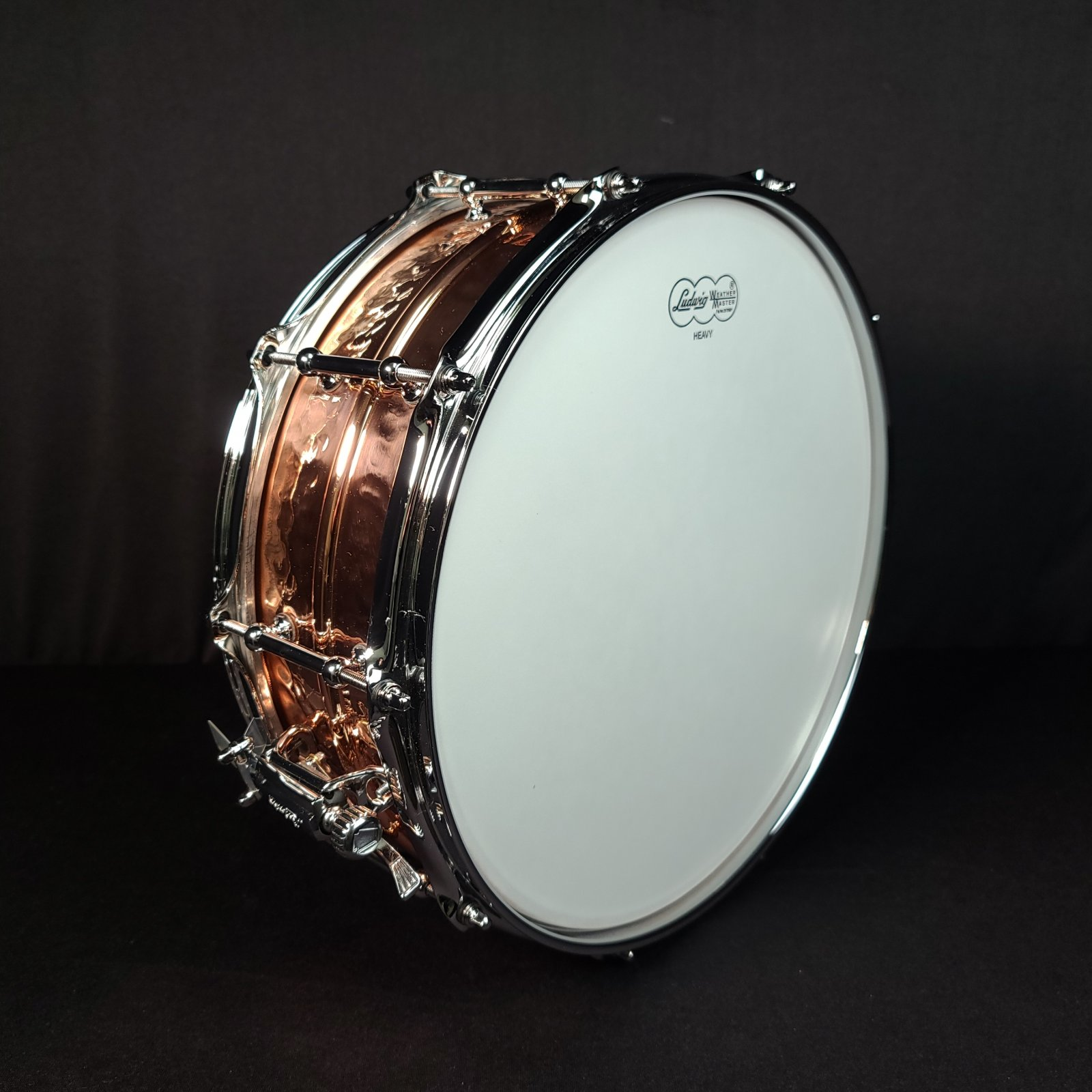 Ludwig LC660KT 5 X 14 Hammered Copperphonic Snare Drum Tube Lugs