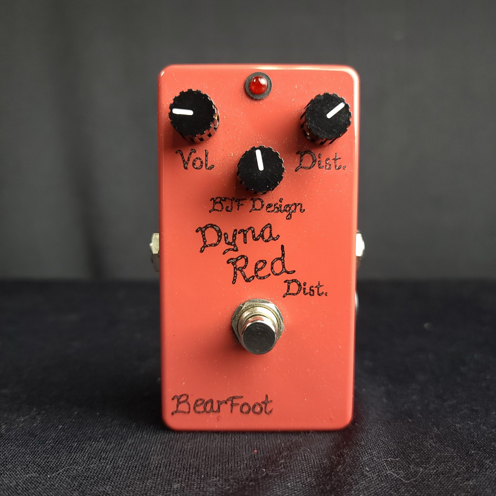 Used BearFoot Dyna Red BJF Design Distortion Effects Pedal