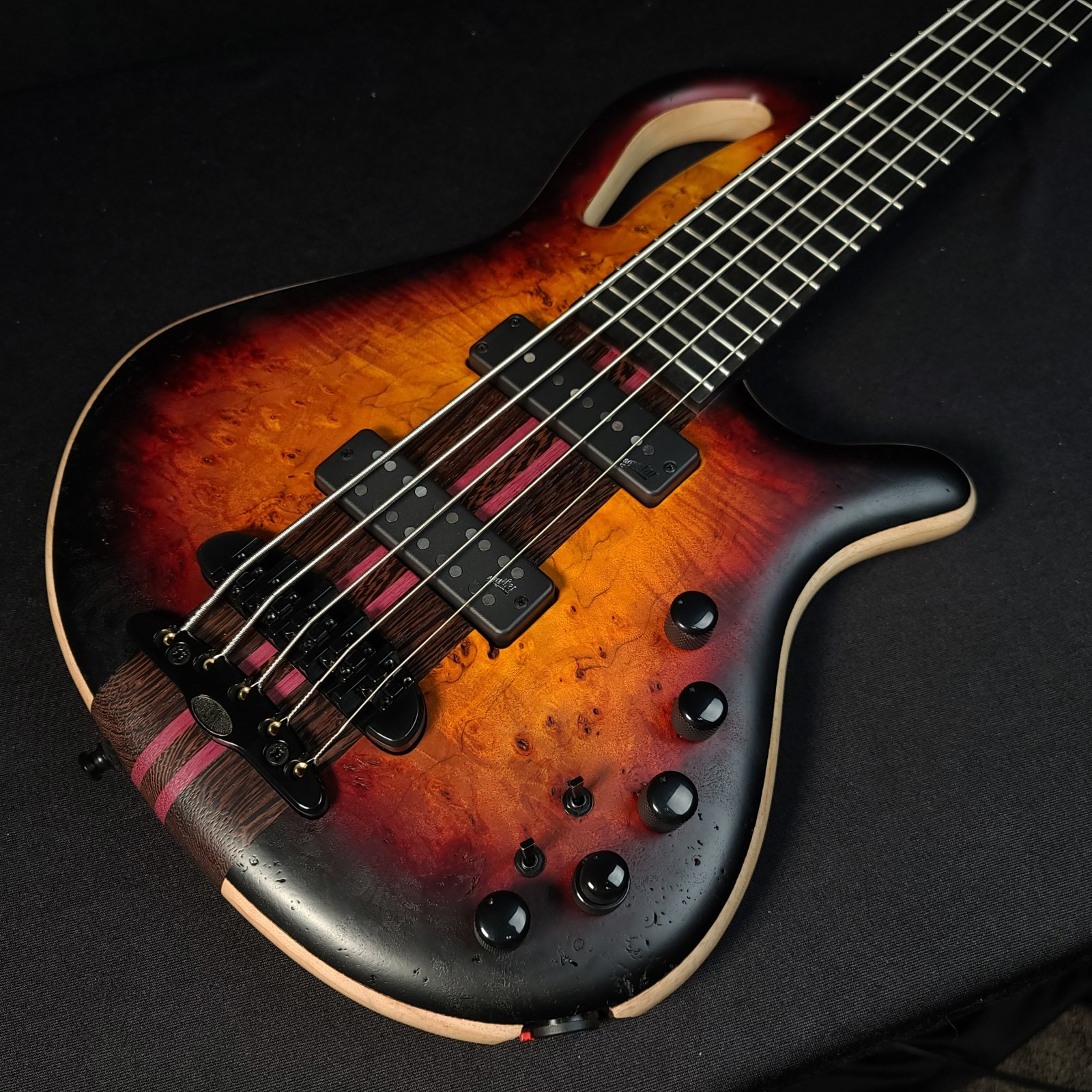 Mayones Caledonius 5 String Bass 2 Tone Sunburst Raw Finish With Bag