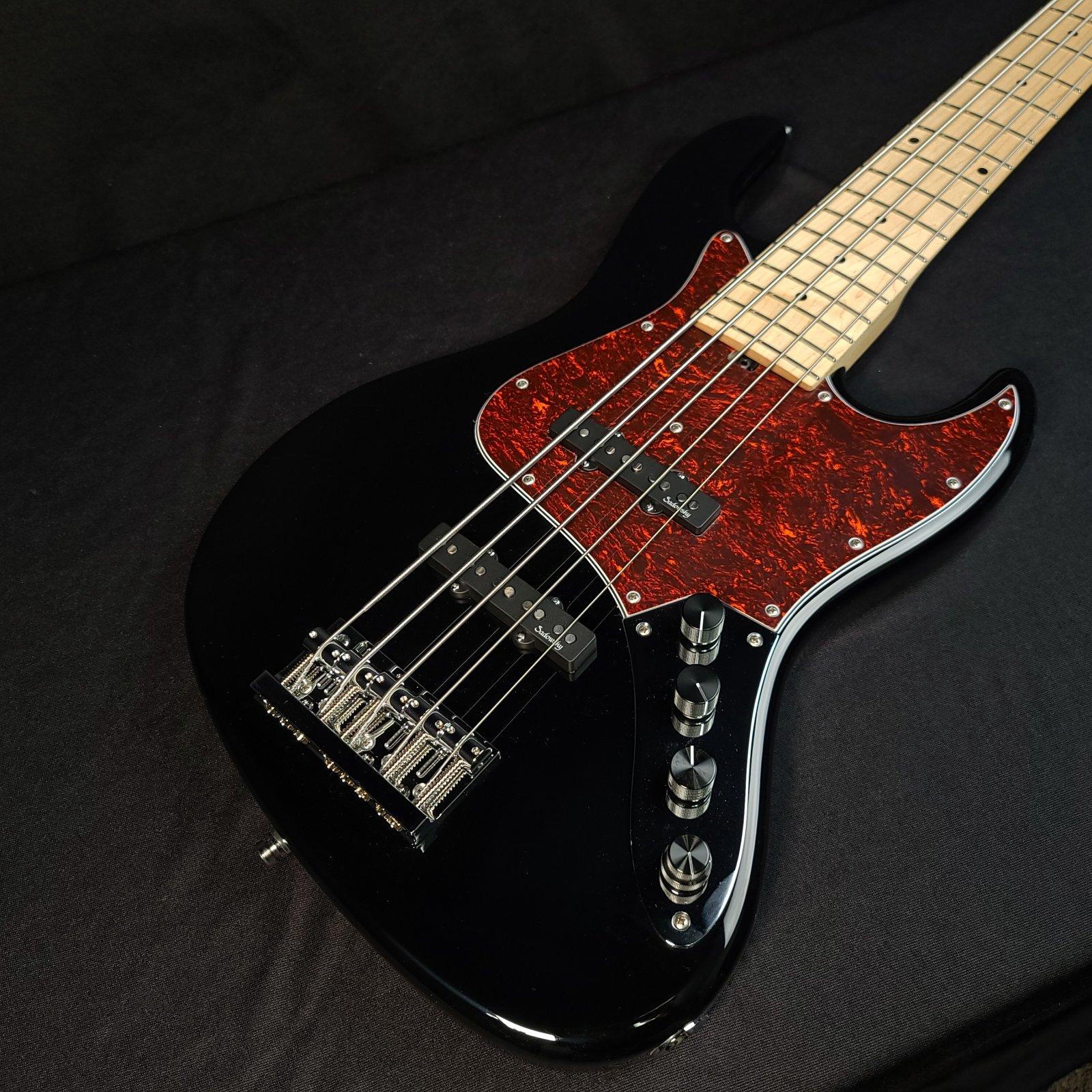 Sadowsky MetroLine 21 Fret Vintage 5 String Bass J/J Bass Black High Polish