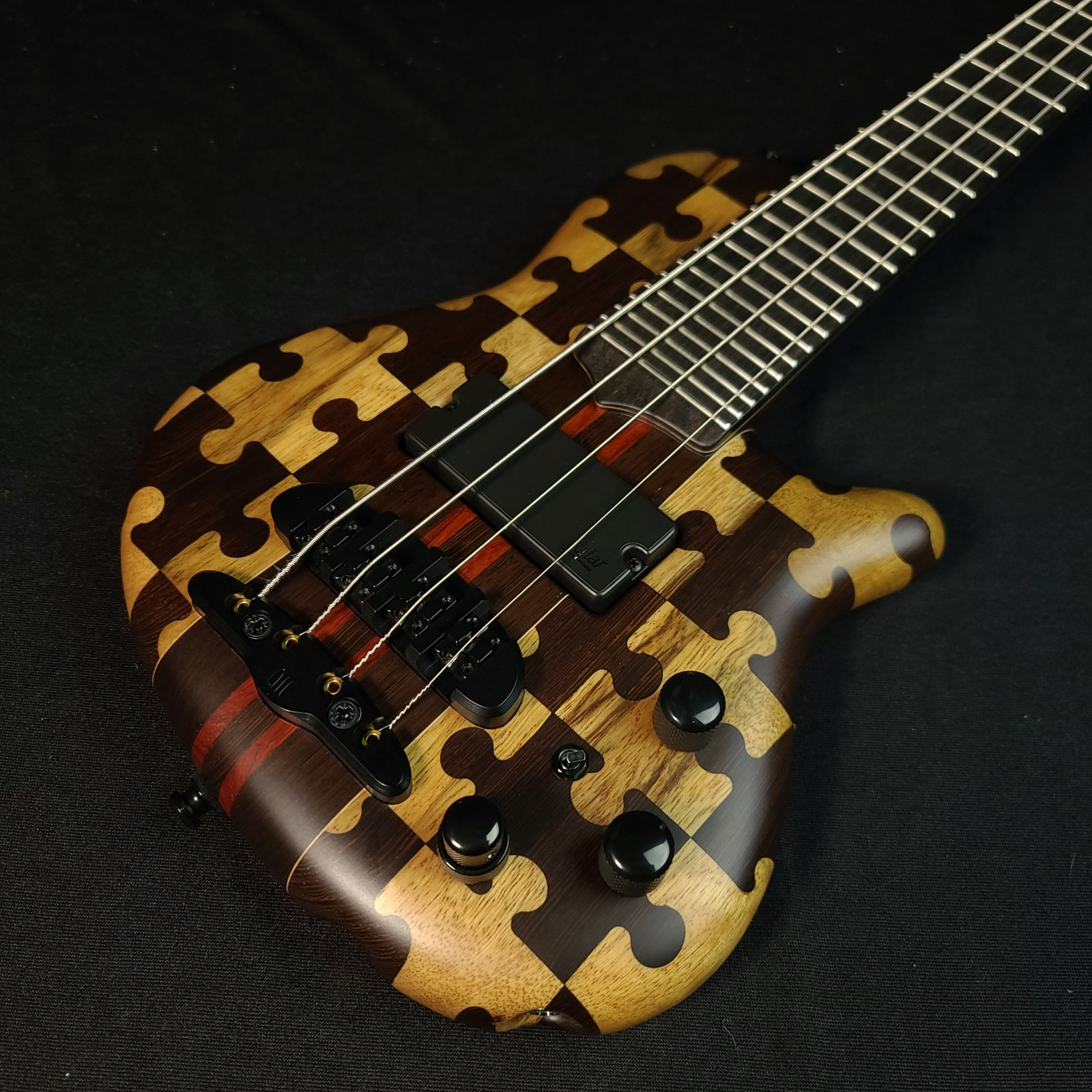 Mayones Cali 4 String Puzzle Bass Mini Bass with Headphone Preamp