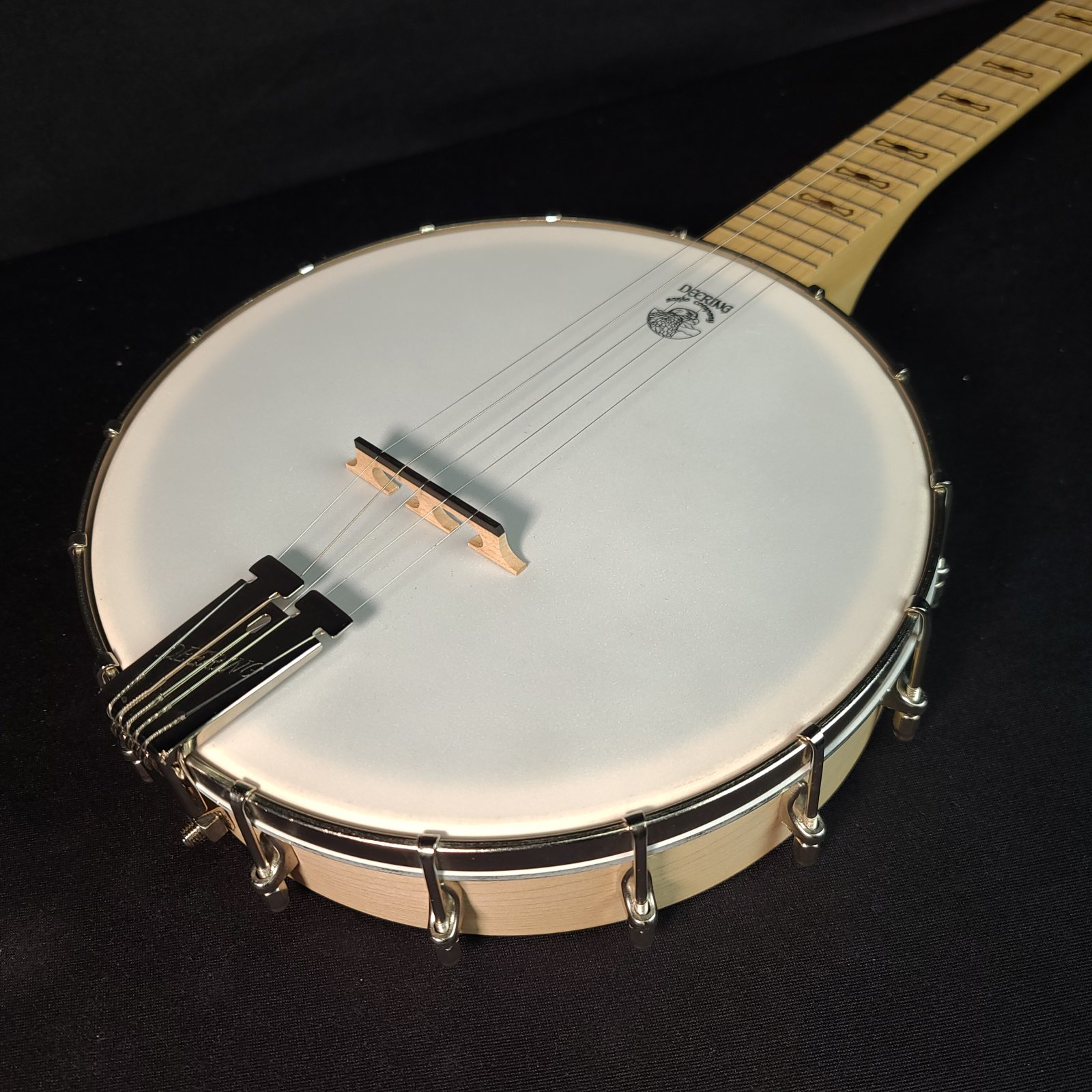 Used Deering Open Back 5-String G Goodtime Banjo w/Logo'd Gig Bag