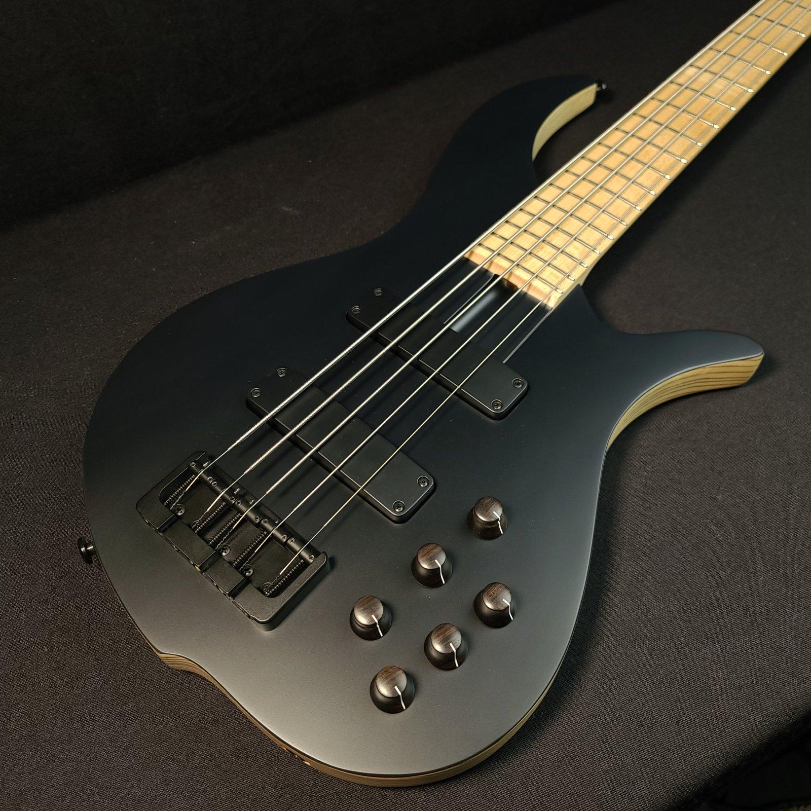 F Bass BN5 5 String Bass Flat Top 2-Piece Ash Body w/ Gig Bag