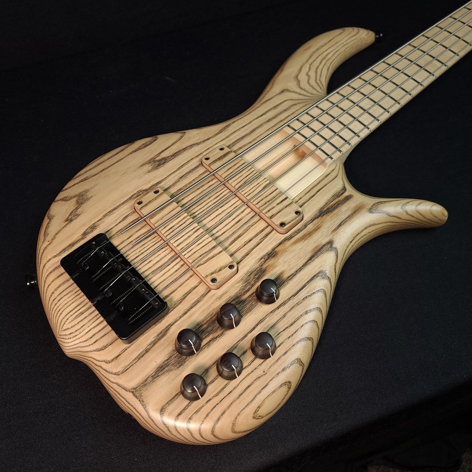 F Bass BN5 5 String Bass 2-Piece Ash Body w/ Gig Bag