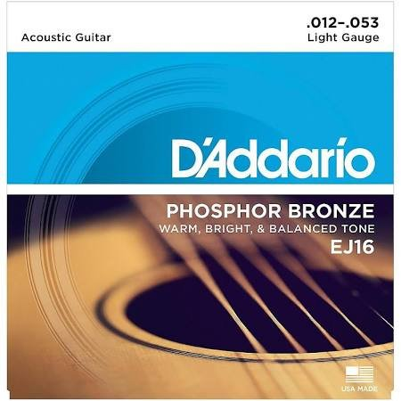 D'Addario EJ16 Phosphor Bronze Acoustic Light Strings