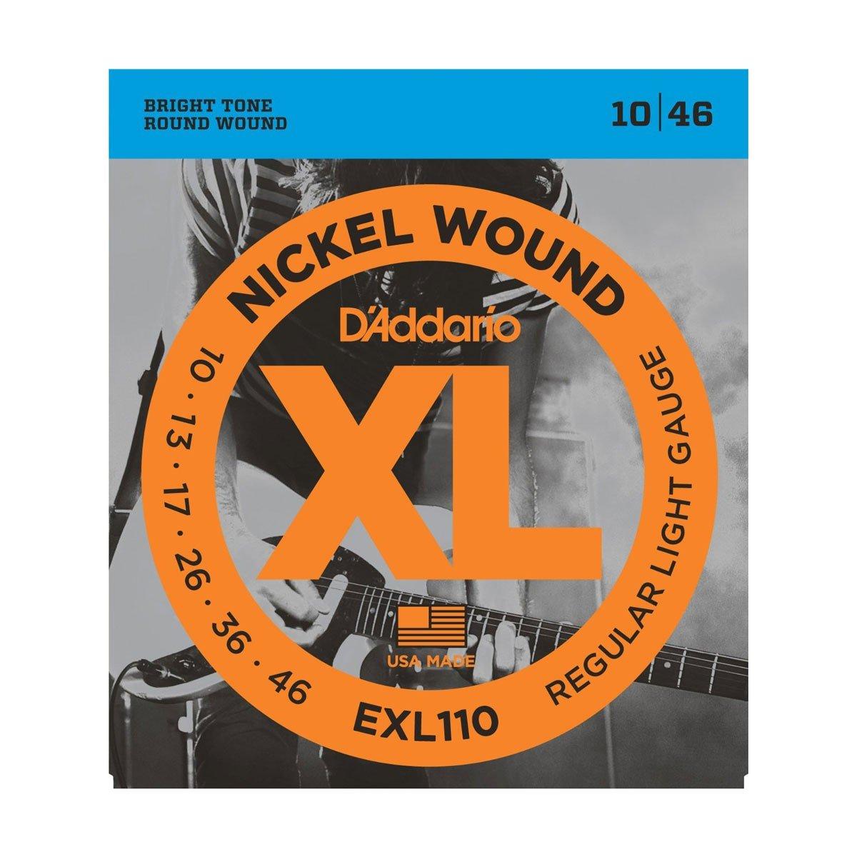 DAddario EXL110 Light Gauge Nickel Wound Electric Guitar Strings