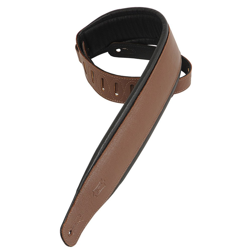 Levy's  PM32-Brn Brown Leather Guitar Strap