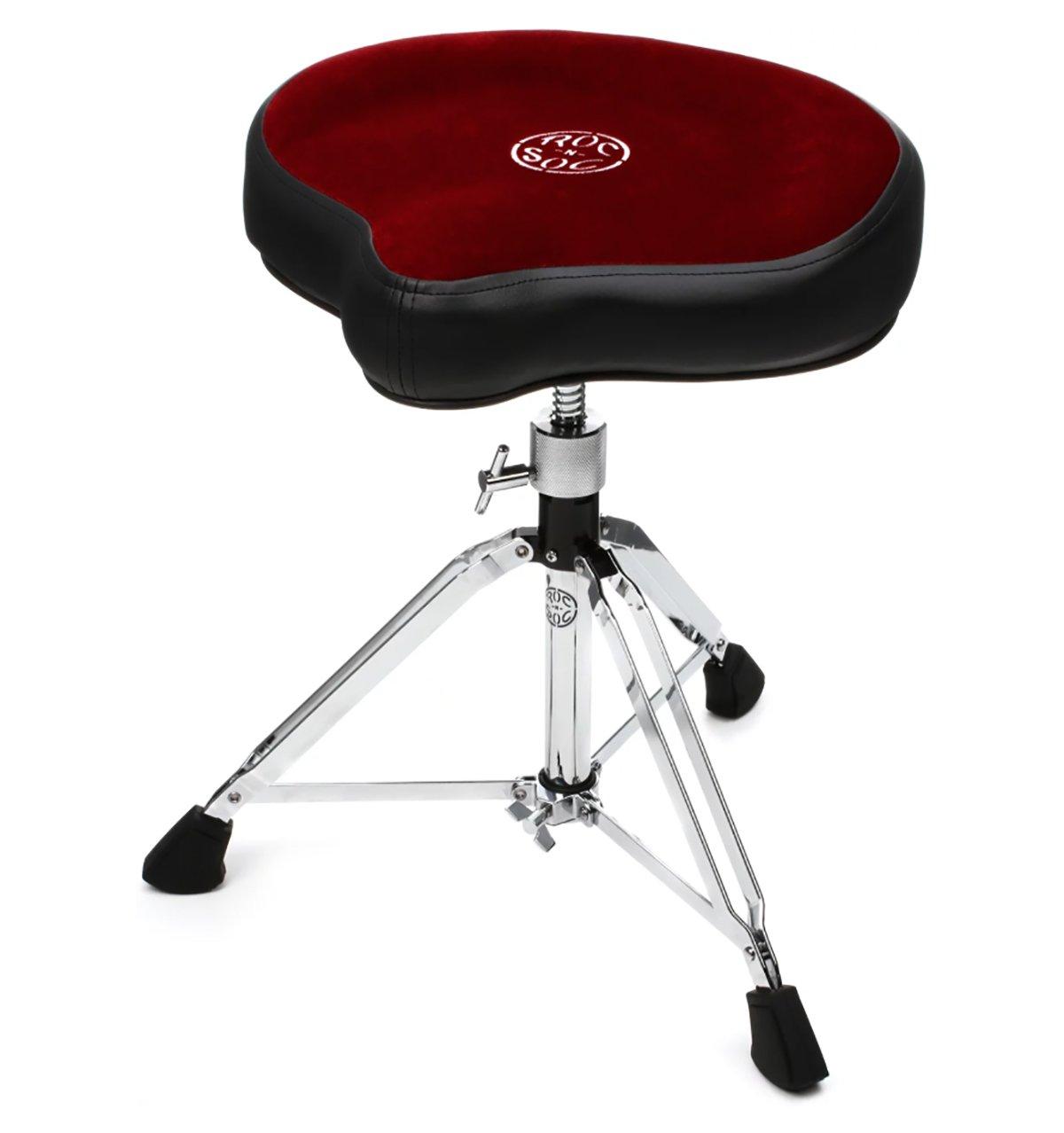 Roc-N-Soc Nitro Hydraulic Saddle Seat Drum Throne Red