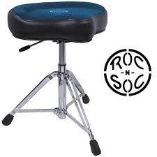 Roc-N-Soc Nitro Hydraulic Saddle Seat Drum Throne Blue