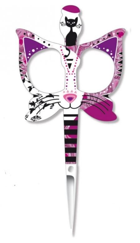 Bohin France Kitty Cat Cute 3 1/2 inch Embroidery Scissors Pink