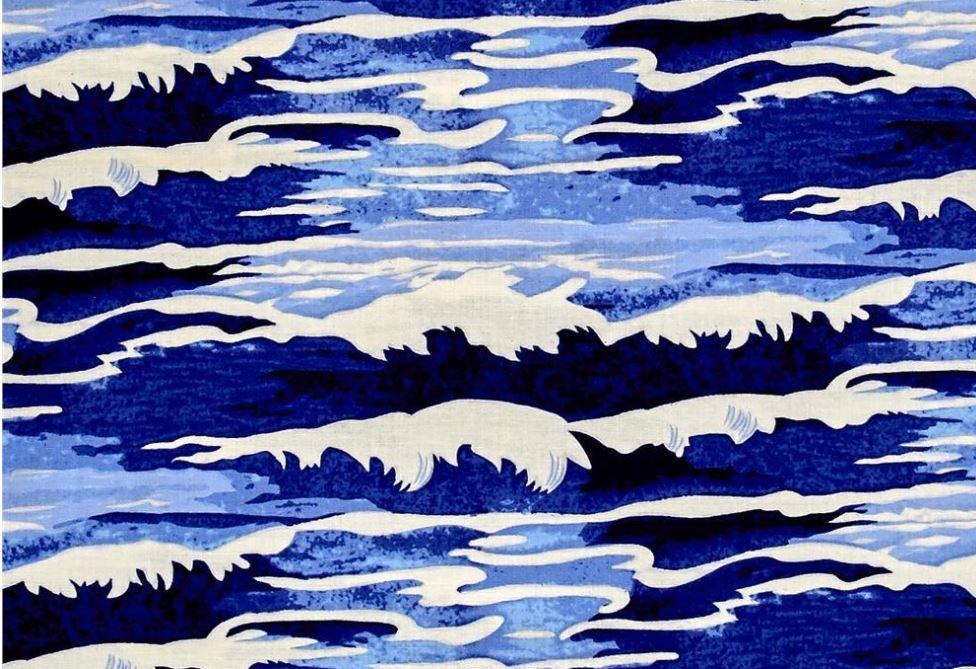 Tokyo Milk Neptune and the Mermaid Oceanus Wave Sea Ocean Japanese Asian Cotton Quilt Fabric WE168