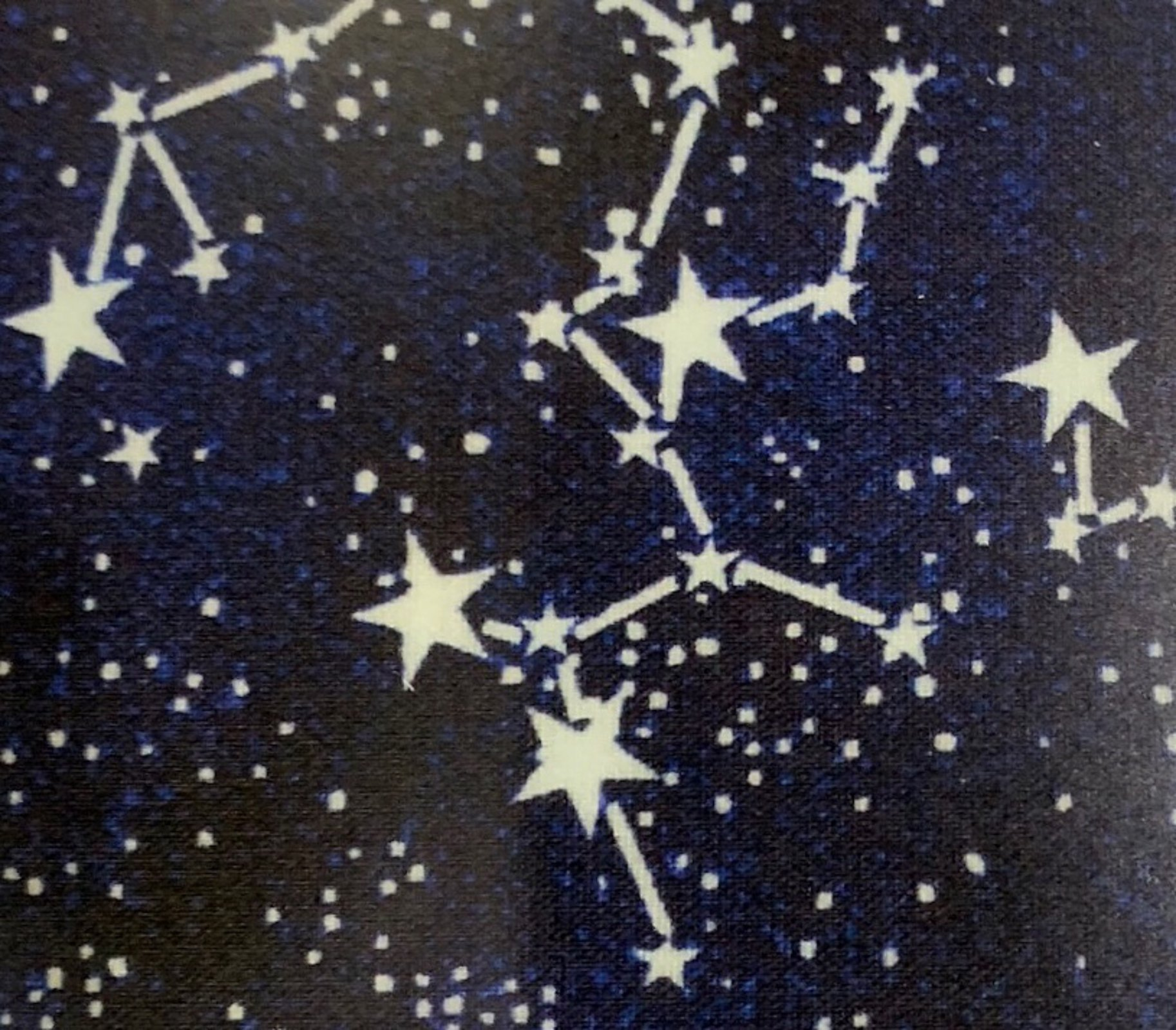 COMING SOON! Glow in the Dark Stars Galaxy Constellation Outer Space Cotton Quilt Fabric