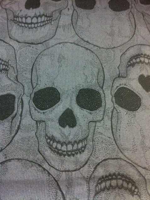 Alas Poor Yorick! Alexander Henry smiling skull fabric Cotton Fabric Quilt Fabric CR501