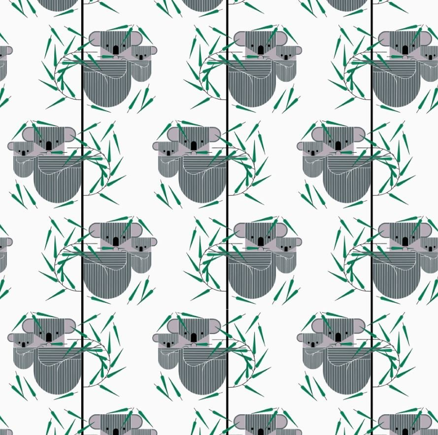 Charley Harper Koala Koala Bear Organic Quilting Cotton Fabric CHB86