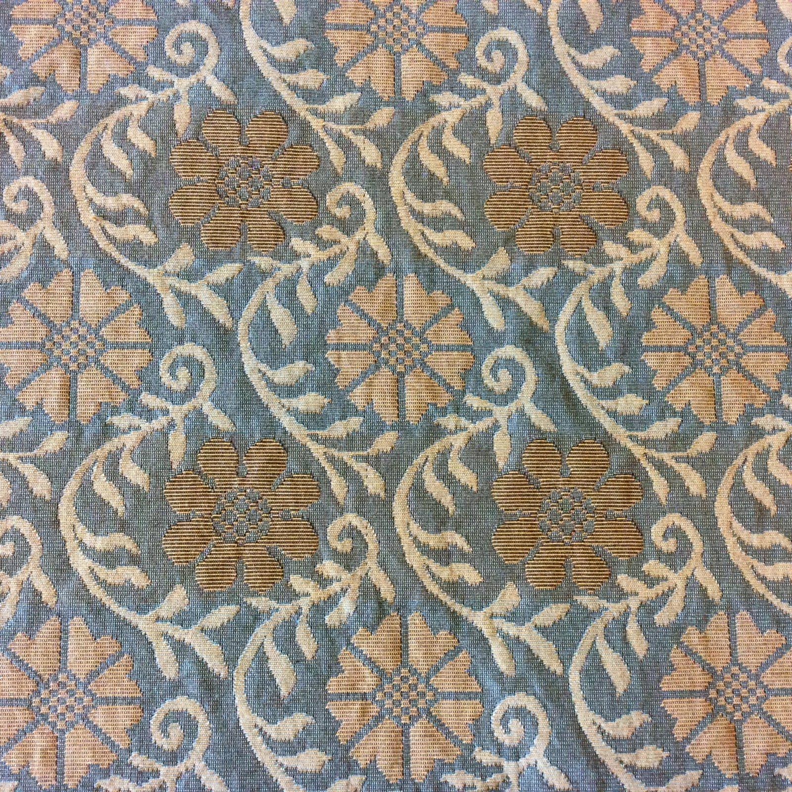 471FG Ashley Floral Ivy Flower Geo Geometric Heavy Upholstery Home Dec Fabric