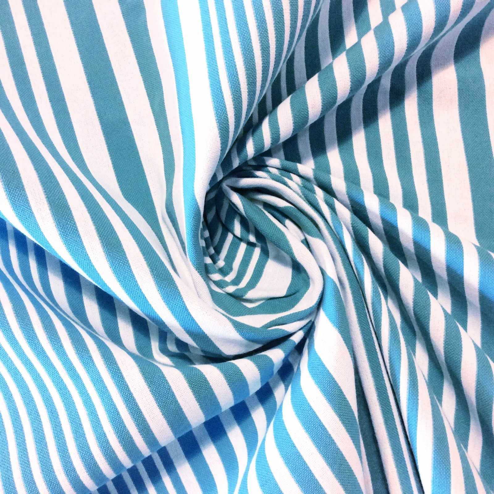 Blue & White Stripe Reversible Acrylic Cool Indoor Outdoor Fabric 629