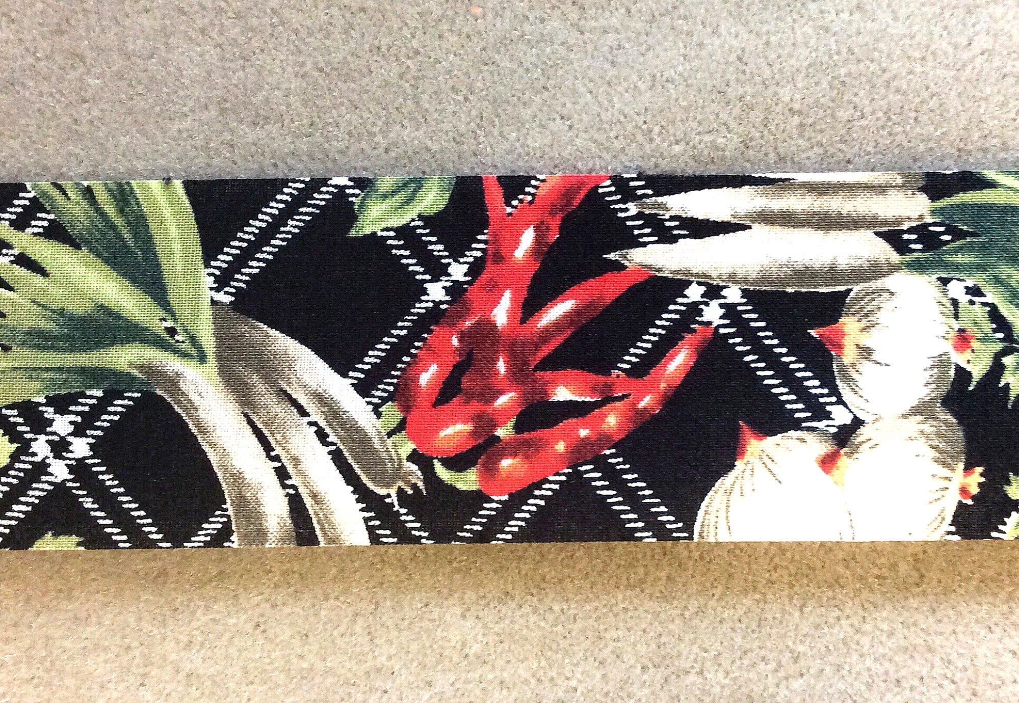 Garden Vegetable Cotton Ribbon Trim 2 wide TRIM006