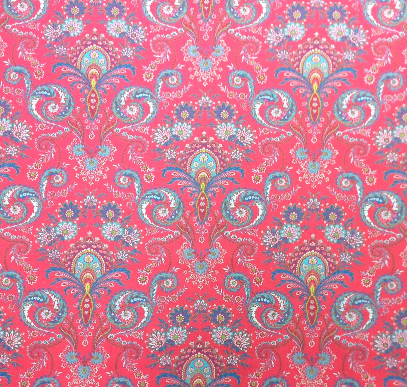 Provincial French Valdrome France Floral Coral Cotton Home Dec Fabric ST04