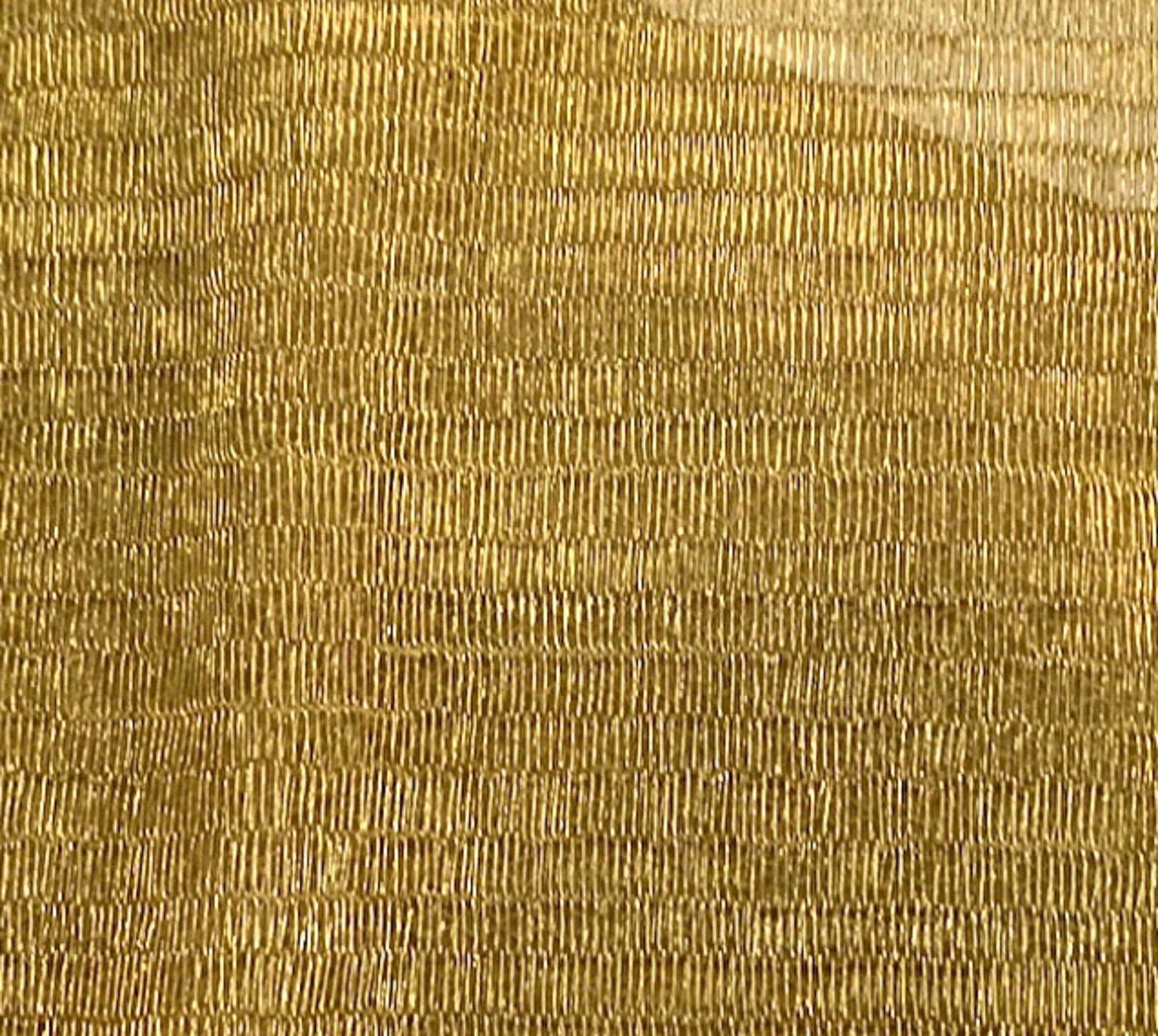 Richard Tyler Gold Metallic Mesh Made in France Apparel Sewing Fabric