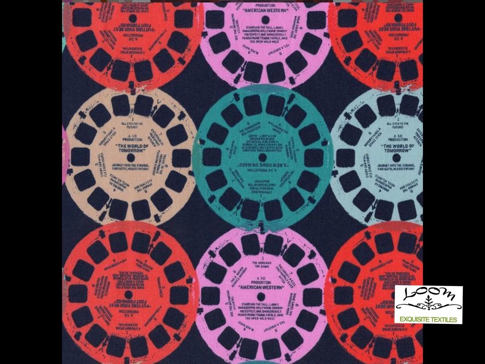 Cotton + Steel Miller Retro View Master Mod Playful Cotton Quilting Fabric ctn24