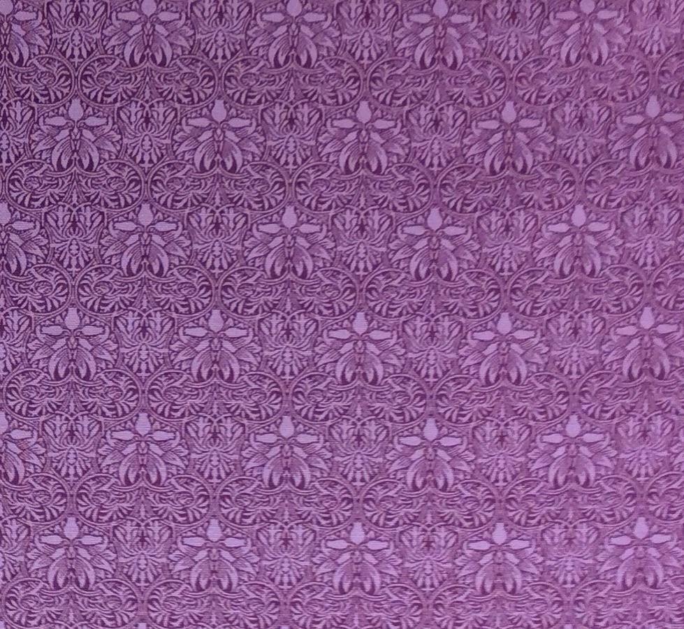 Barbara Brackman MODA Best Of Morris Flower Deco Nouveau Floral Vines Elegant Royal Cotton Quilting Fabric MO26
