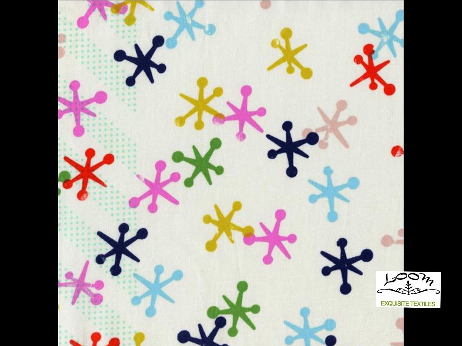 Cotton + Steel Miller Jacks Retro Mod Playful Games Cotton Quilting Fabric CTN26