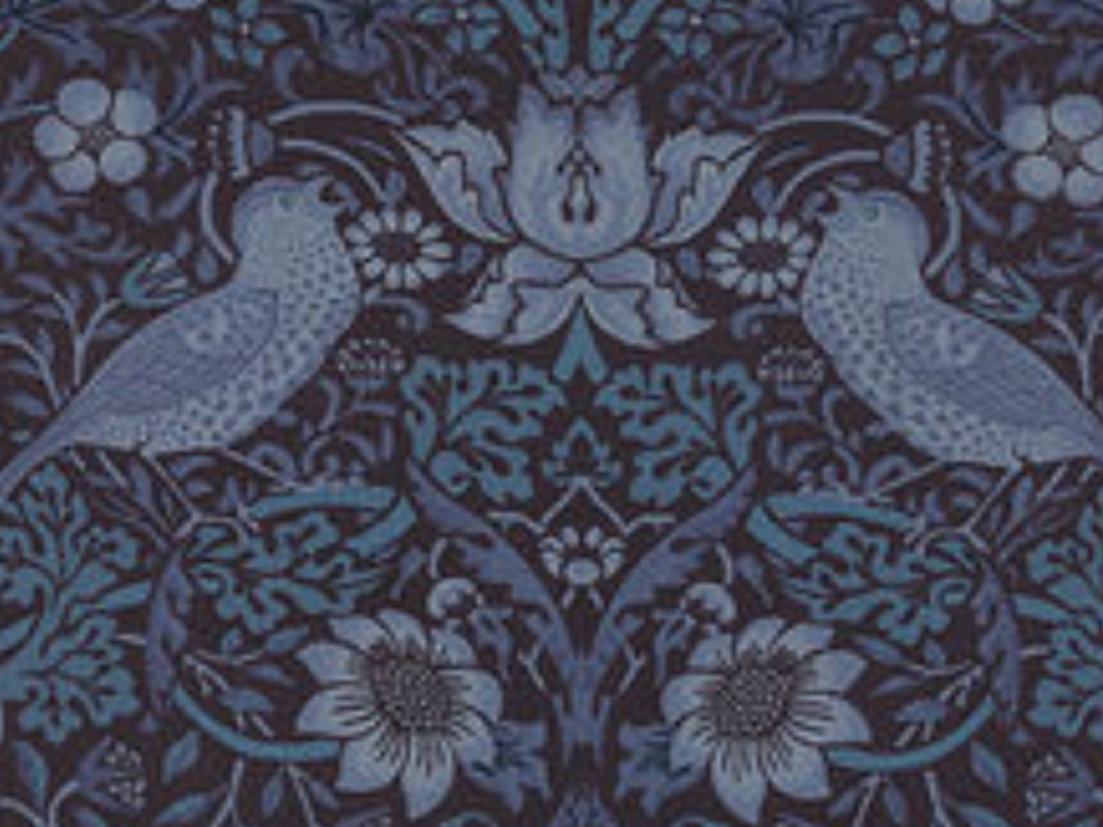 William Morris Brackman Liberty Style Floral Birds Cotton Quilting Fabric Moda MO16