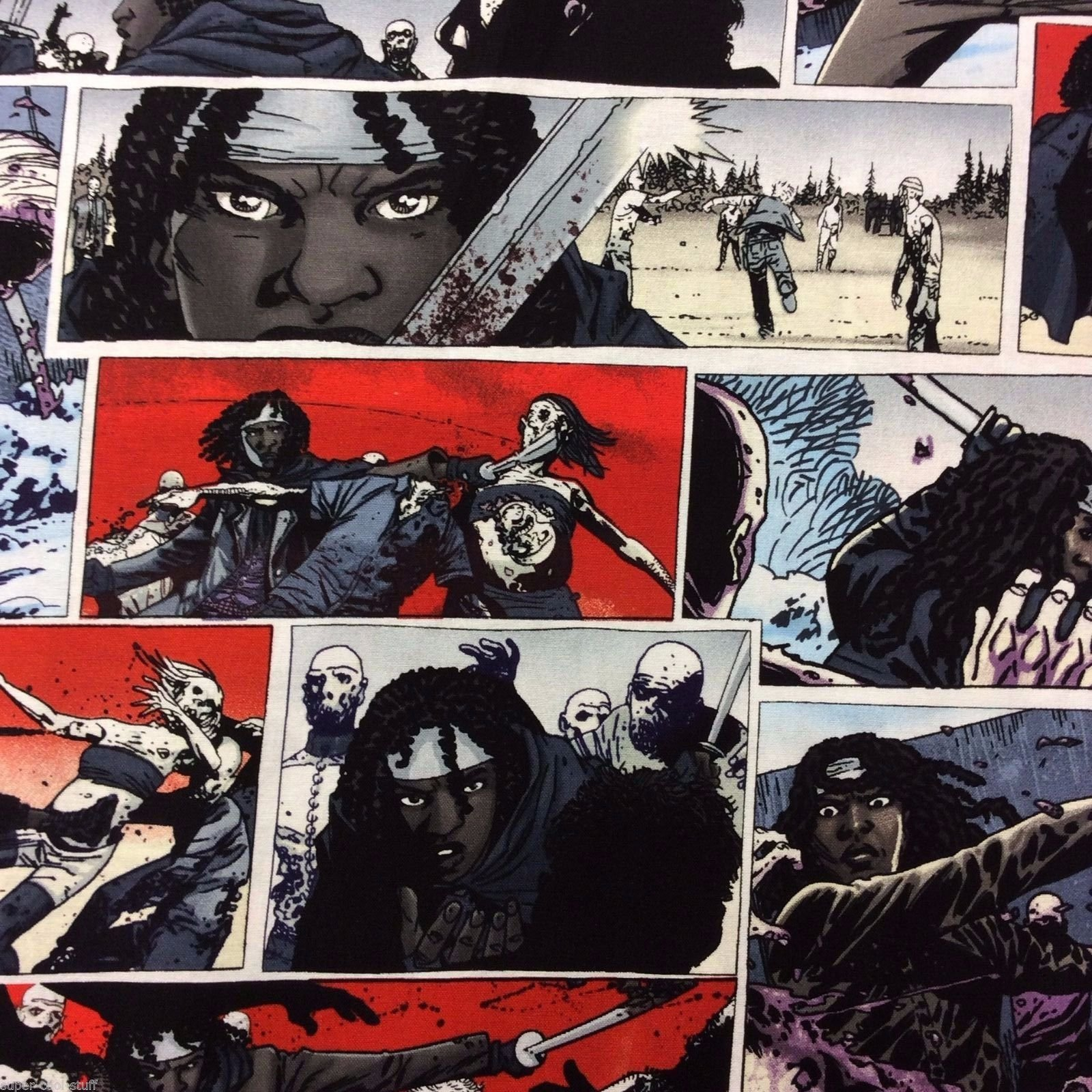 Zombie The Walking Dead Zombie Goth Outsider Sci Fi Science Fiction Cotton Fabric Quilt Fabric MD56