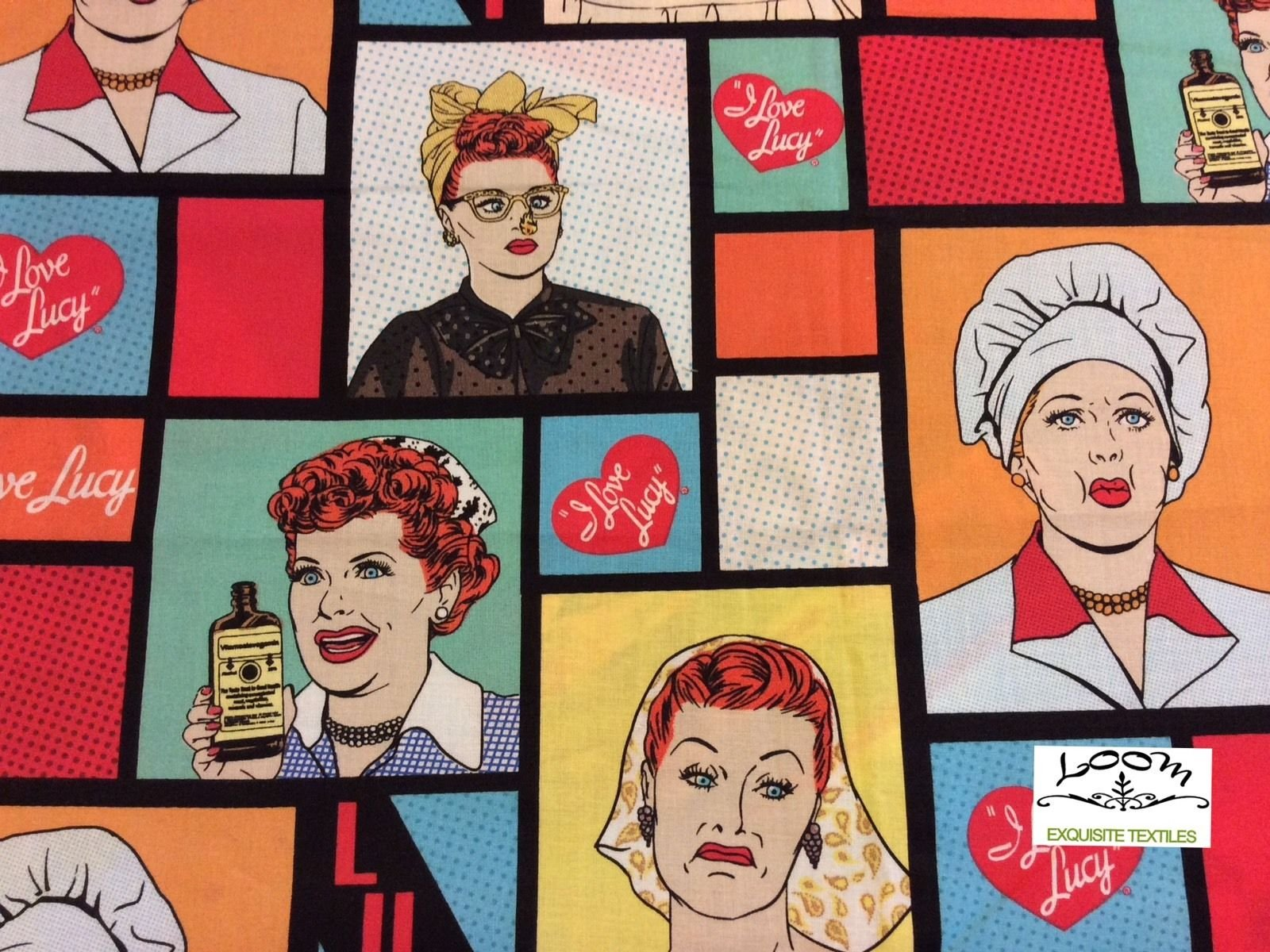 I Love Lucy Lucille Ball Retro Television Comedian Cotton Quilting Fabric Md61