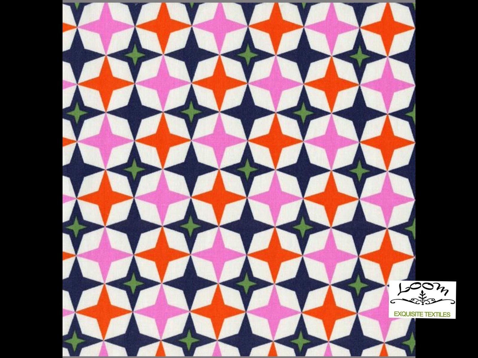 Cotton + Steel Miller Retro Atomic Starburst Mod Playful Games Cotton Quilting Fabric CTN23