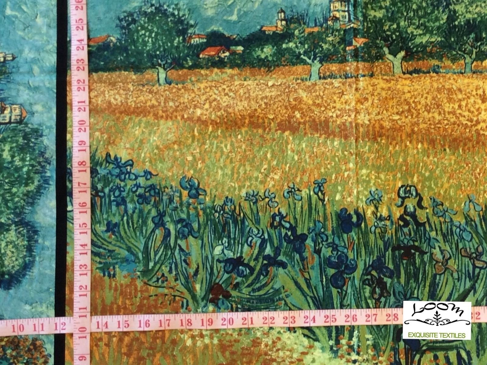 Vincent Van Gogh PNL65 Field With Irises Painting PANEL Cotton Quilting Fabric RK109