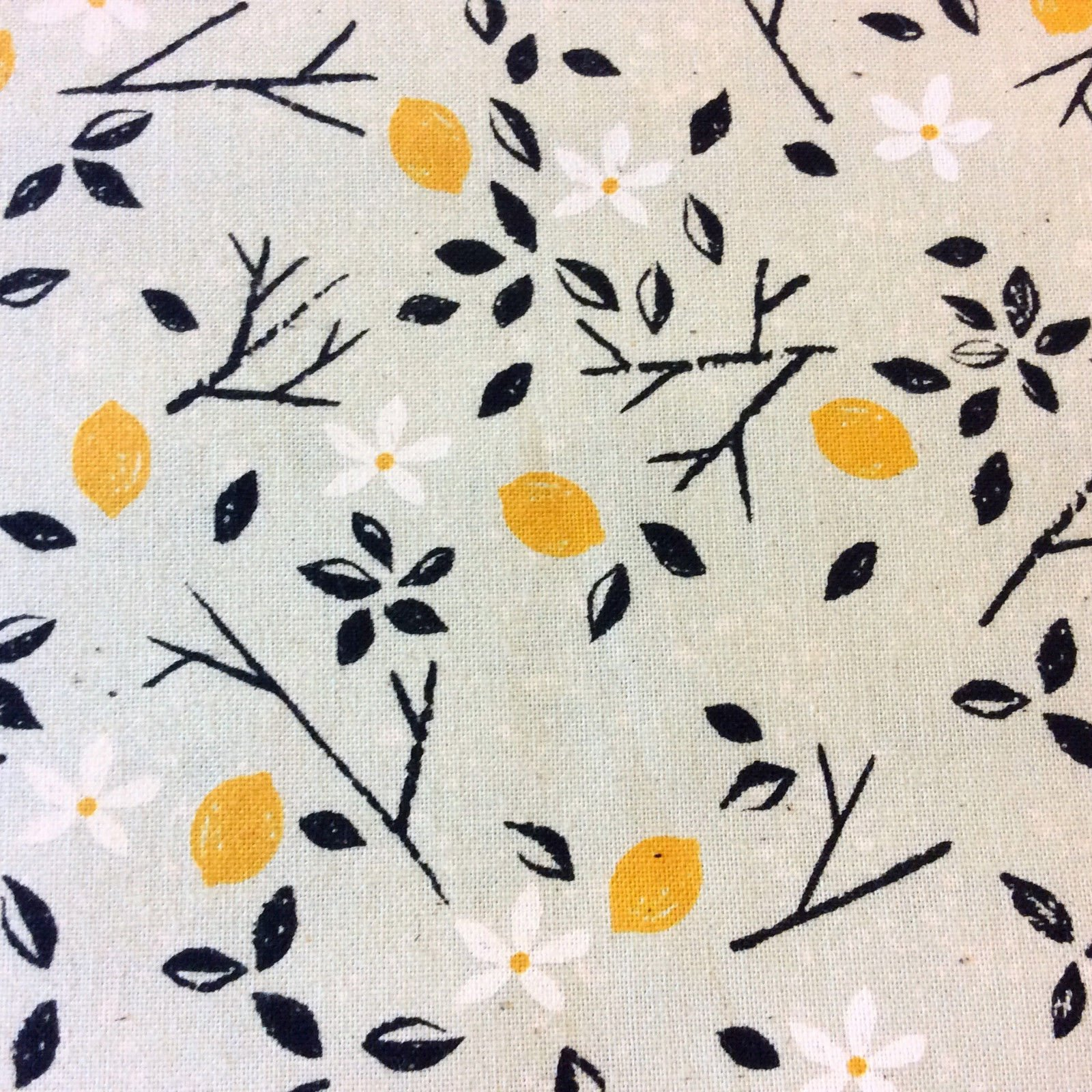 CTN69 Cotton + Steel Lemon Tree Floral Flower Summer Garden Cotton Quilt Fabric
