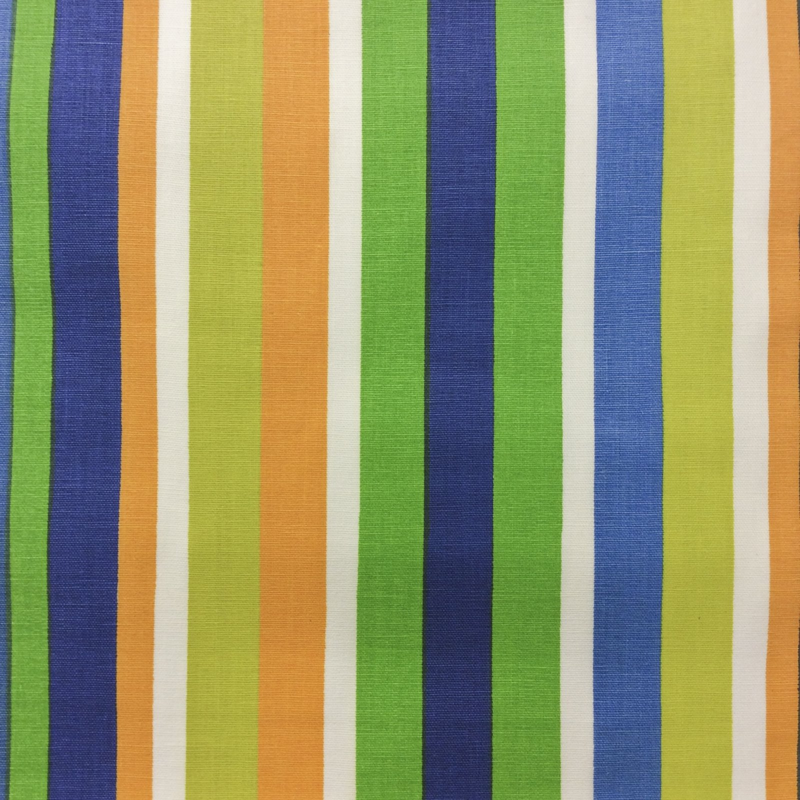 AA10 TRUE VINTAGE Stripes Orange Green Canvas Home Dec Cotton Fabric Charles