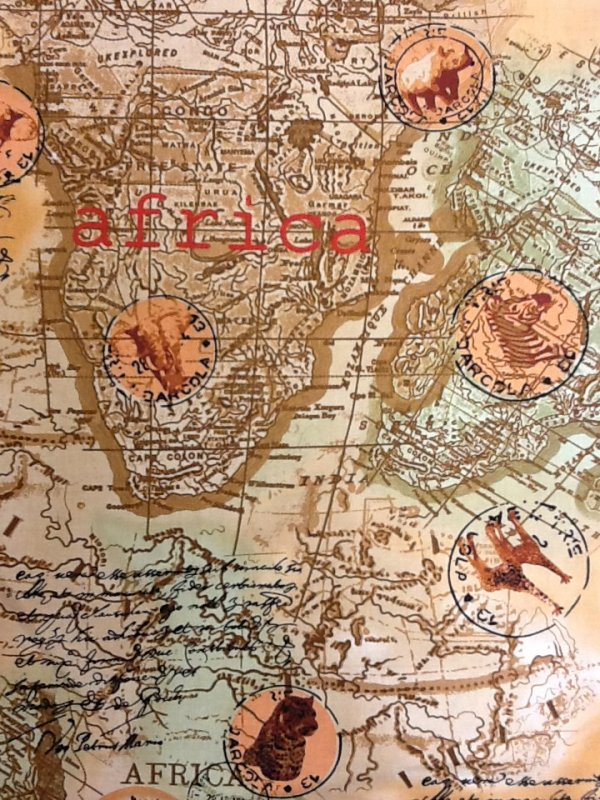 Africa kenta african map compass exploration world travel vintage africa kenta african map compass exploration world travel vintage style cotton fabric quilt fabric ab077 gumiabroncs Gallery