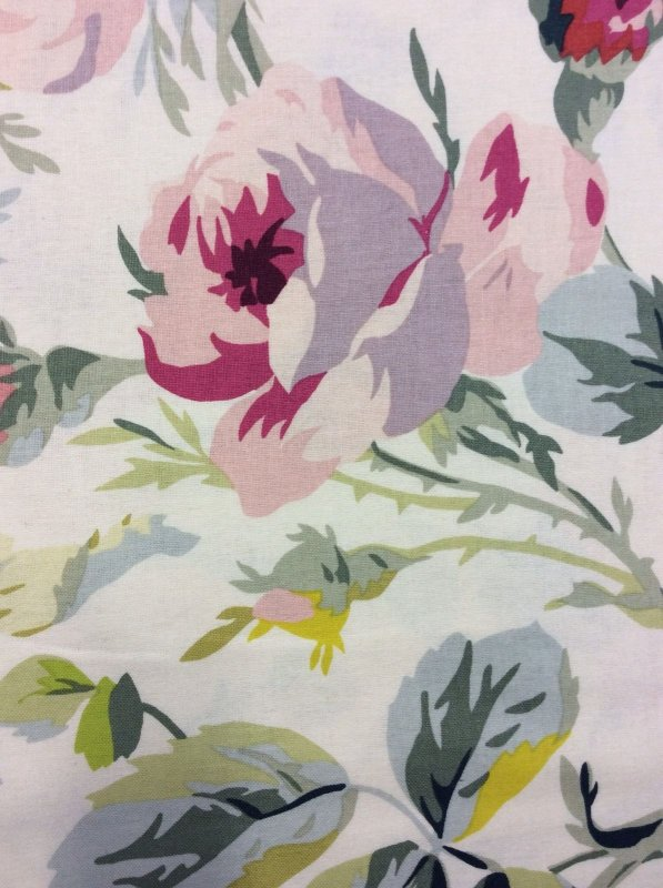 Yellow Pink Roses Sweet Cotton Fabric Quilt Fabric AG05