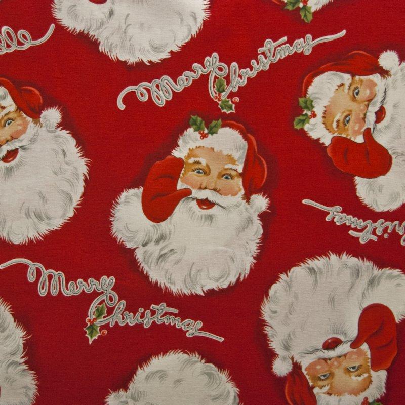 Santa Claus Merry Christmas Holidays Seasonal Quilting Cotton Quilt Fabric AH114