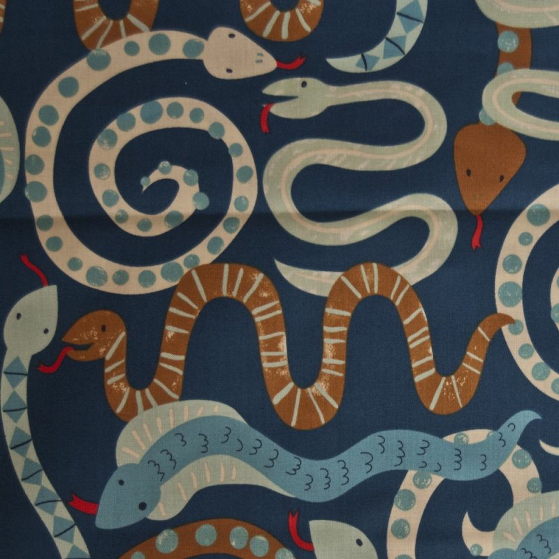 AH127 Cute Snakes Critters Slither Hiss By the Yard Quilting Cotton Quilt Fabric