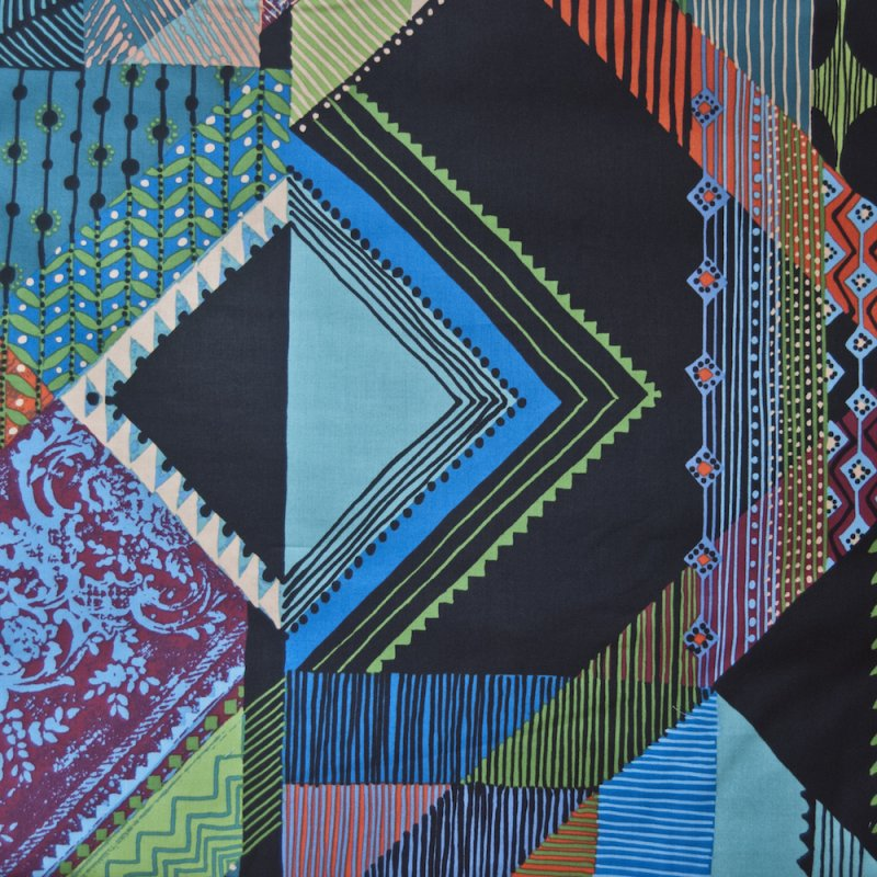 AH128 Oversized Abstract Modern Shapes By the Yard Quilting Cotton Quilt Fabric