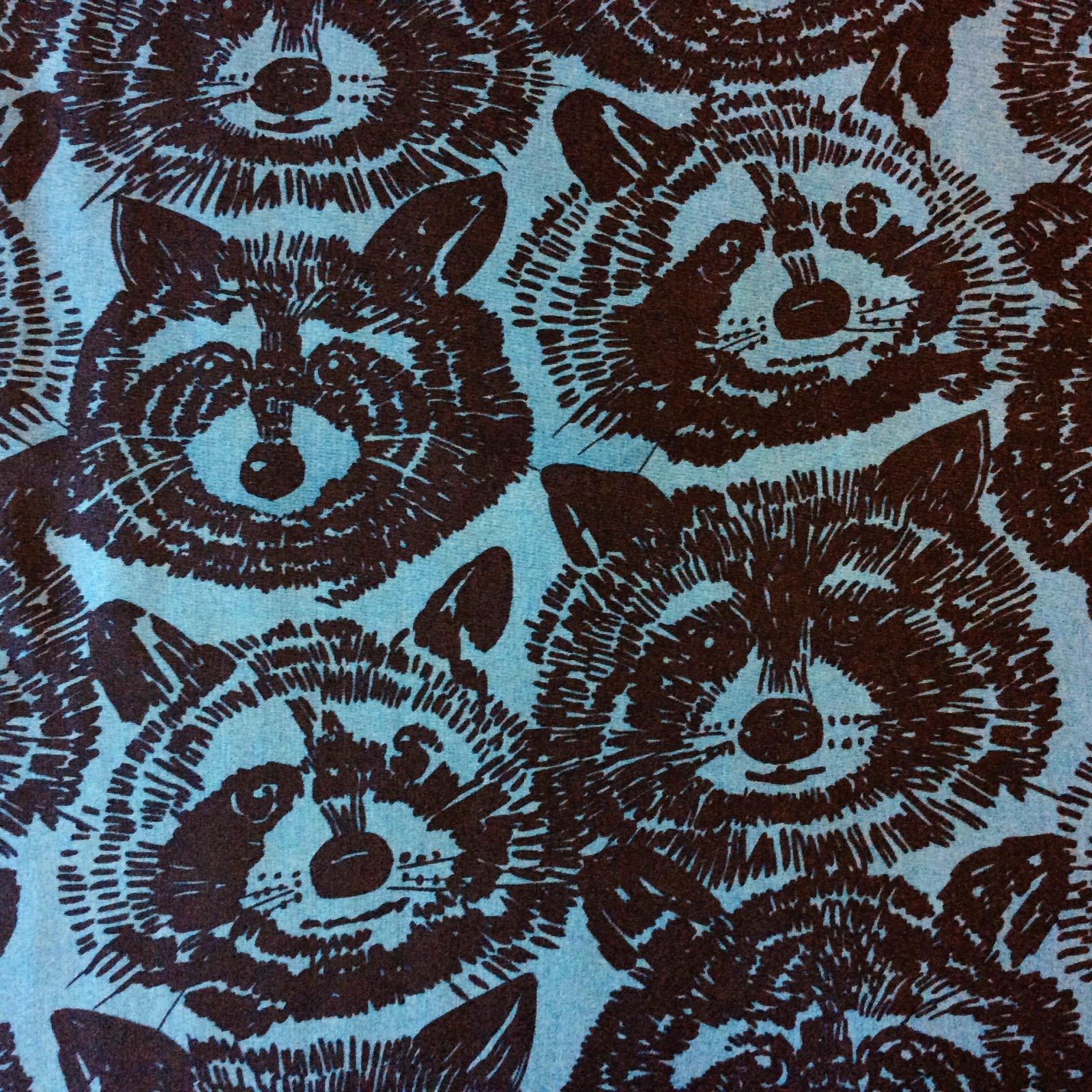 Raccoon Varmit AH208 Alexander Henry Raccoon Animal Forest Woods Nature Cotton Quilt Fabric