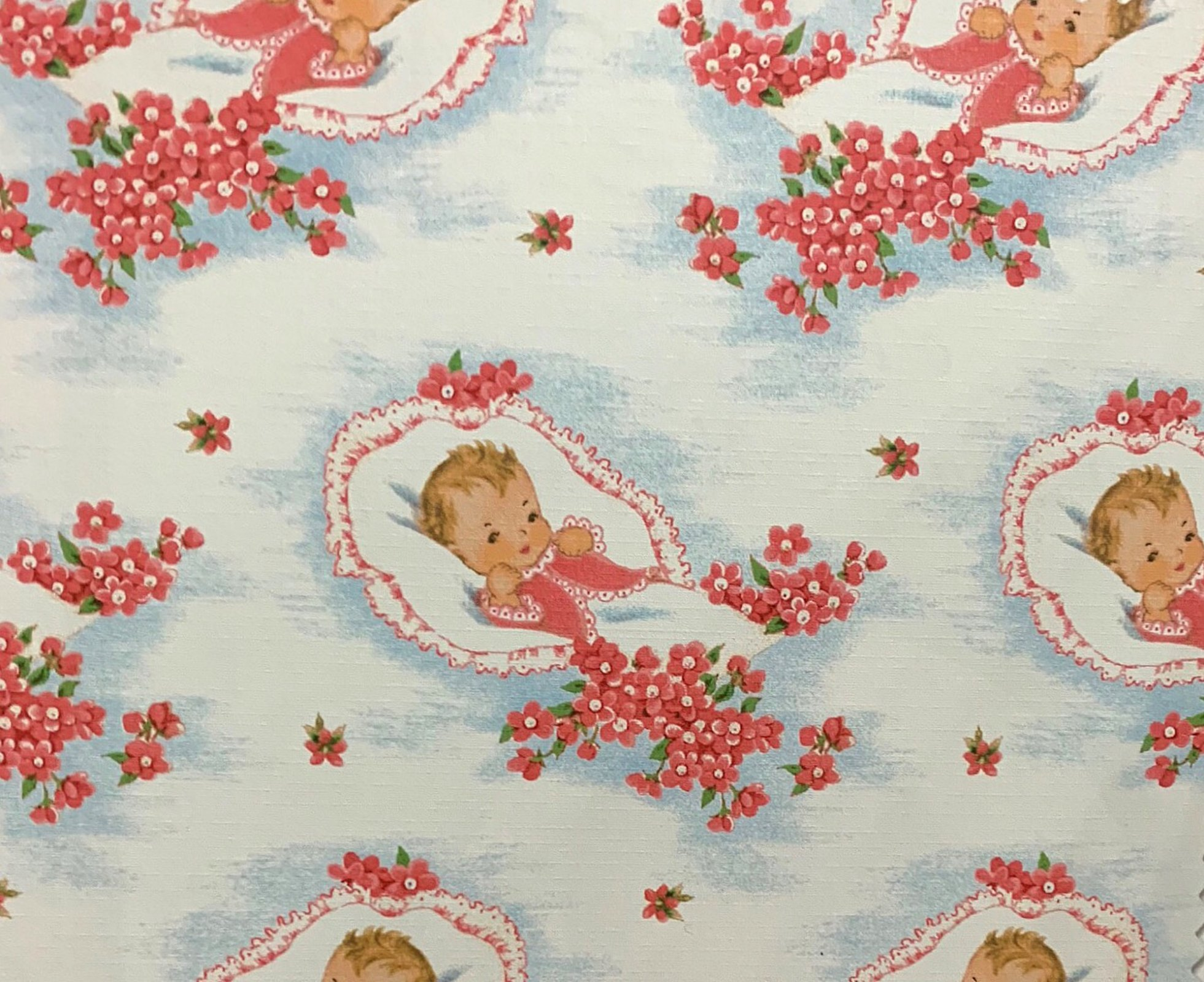 COMING SOON! Newborn Baby Retro Wrapping Paper Baby Shower Style Cotton Quilt Fabric