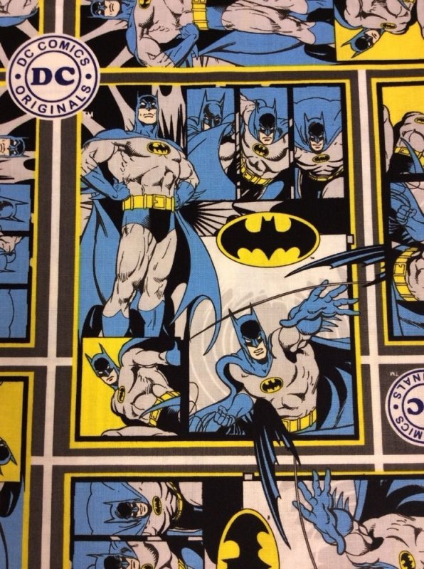 DC Comics Batman Comic Strip Cotton Super Hero Marval Geek Nerd Quilt Fabric CA04