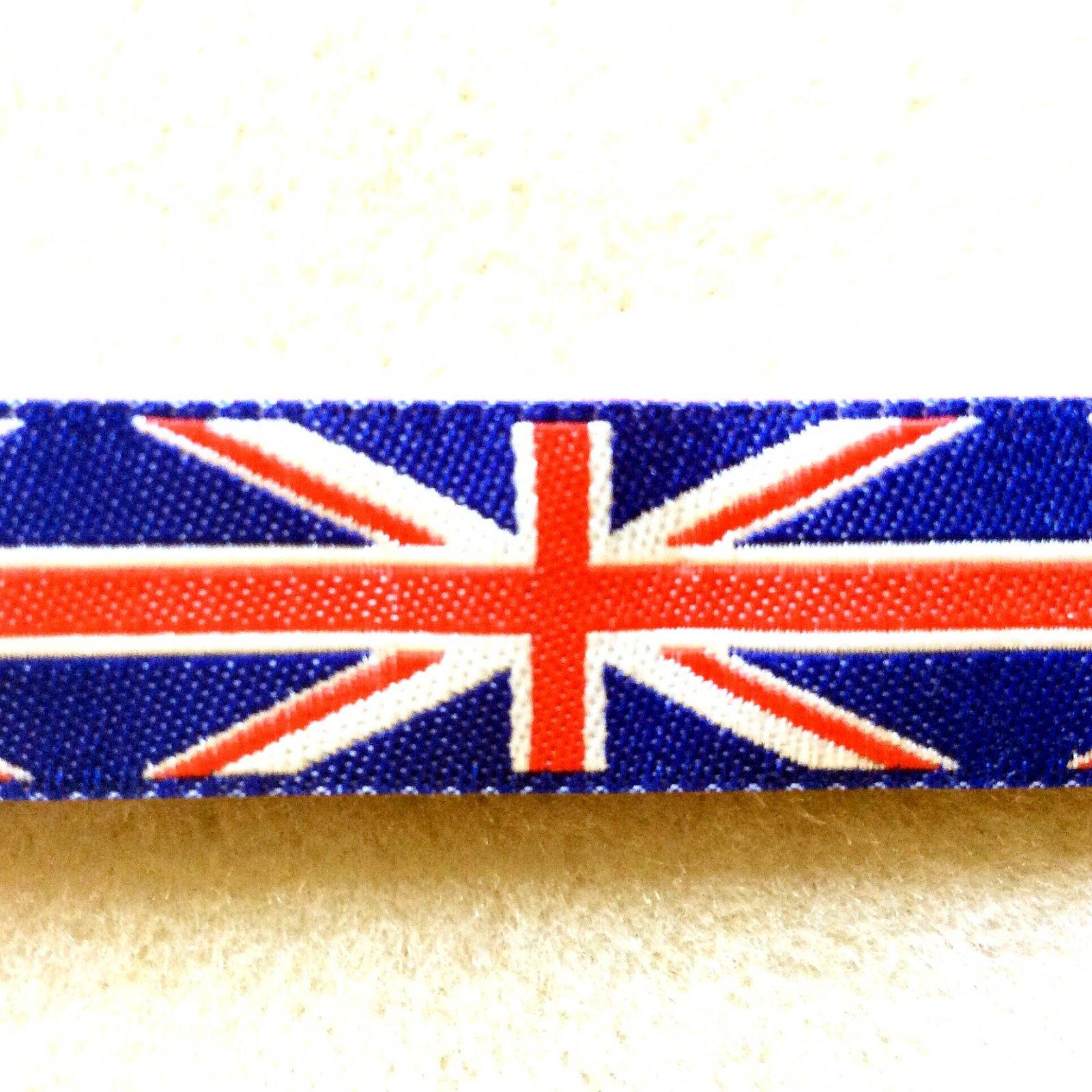 Union Jack UK Flag Half Inch Wide Grosgrain TRIM008