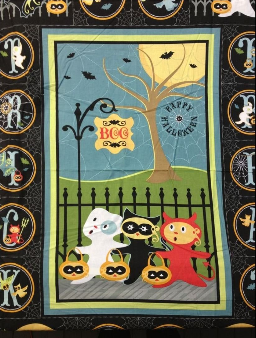 FF40 PNL113 Sheri Berry Halloween Boo! Figures Trick or treat Ghost Retro Cute! Quilt fabric cotton fabric
