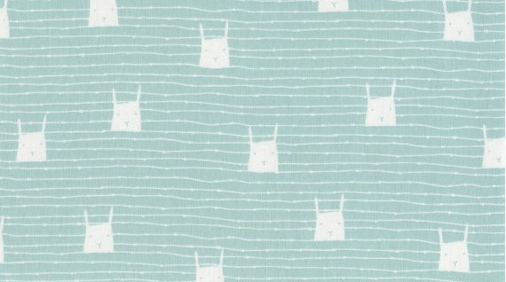 Bunny Rabbit Retro Sketch Cotton Quilt Fabric FT135