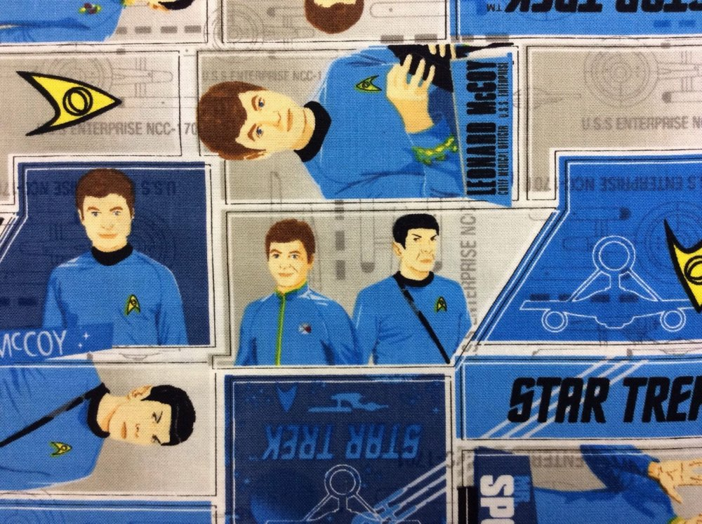 Star Trek Spock McCoy Live Long And Prosper Geek Cotton Fabric Quilt Fabric CA11