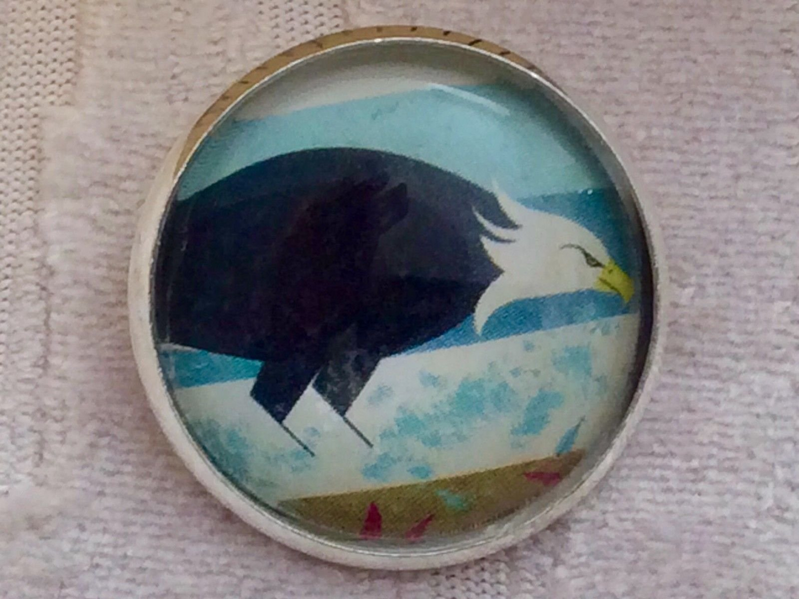 Charley Harper Bald Eagle Bird  Sewing Button 1 Mid Century Mod Charles CH145