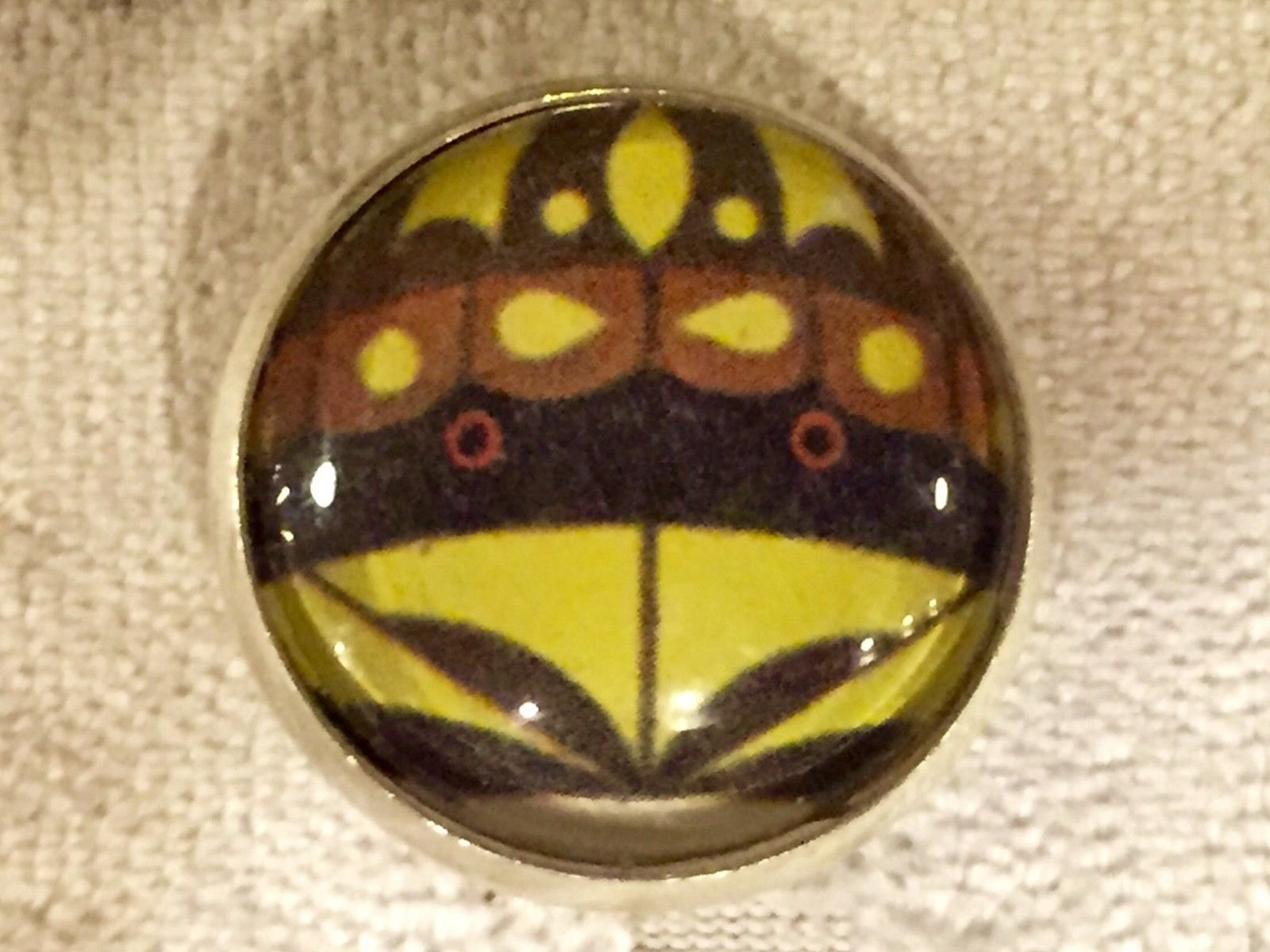 Charley Harper Box Turtle cute Sewing Button 1 Mid Century Mod Charles CH180